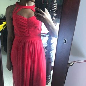 Bcbg  red gown size 4